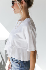Ruffled Crop Tee Side View