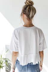 Ruffled Crop Tee Back View