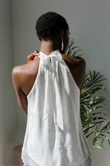 Ivory - Sleeveless Top Back View