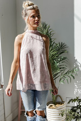 Sleeveless Top in Blush Front View