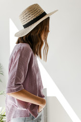 Relaxed Fit Top in Lavender Side View