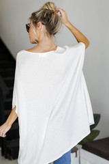 Lace-Up Tunic in Ivory Back View
