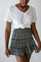 Black - Spotted Tiered Skirt from Dress Up