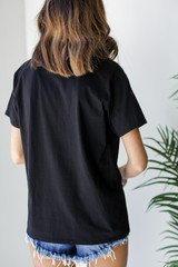 Everyday Pocket Tee in Black Back View