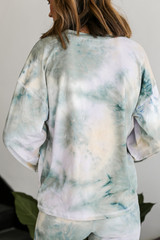 Lightweight Tie-Dye Pullover Back View