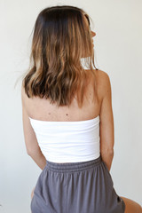 Basic Bandeau in White Back View