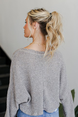 Knit Top Back View
