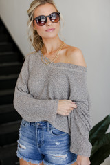 Knit Top Front View