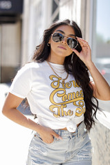 Here Comes the Sun Vintage Graphic Tee Front View