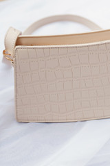 Ivory - Crocodile Crossbody Bag from Dress Up