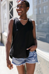 Black - Relaxed Fit Tank