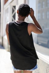 Relaxed Fit Tank in Black Back View