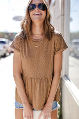 Camel - Babydoll Top from Dress Up