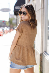 Babydoll Top in Camel Back View