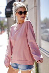 Blush - Dress Up model wearing an Oversized Pullover