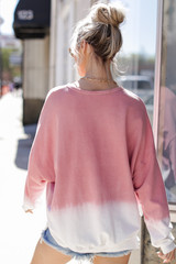 Ombre Pullover Back View