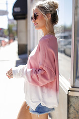Ombre Pullover Side View