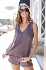 Grey - Knit Tank from Dress Up