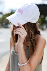 Nashville Summer Cities Hat in White Side View