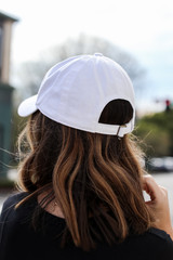 Nashville Summer Cities Hat in White Back View