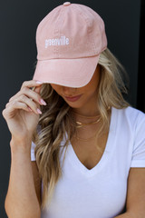 Greenville Summer Cities Hat in Blush Front View