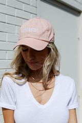 Model wearing the Charleston Summer Cities Hat in Blush