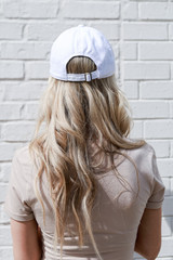 Charleston Summer Cities Hat in White Back View