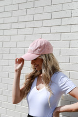 Charleston Summer Cities Hat in Blush Side View