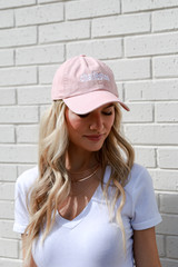 Dress Up model wearing the Charleston Summer Cities Hat in Blush