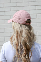 Charleston Summer Cities Hat in Blush Back View