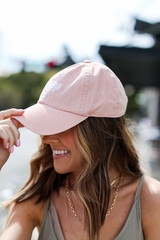 Dahlonega Summer Cities Hat in Blush Side View