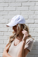 Dahlonega Summer Cities Hat in White Side View
