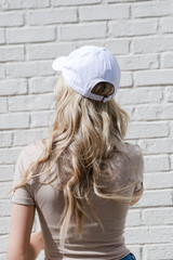 Dahlonega Summer Cities Hat in White Back View
