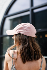 Dahlonega Summer Cities Hat in Blush Back View