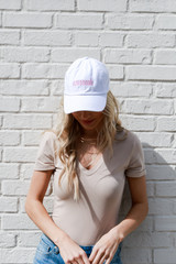 White - Dress Up model wearing the Savannah Summer Cities Hat