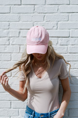 Savannah Summer Cities Hat in Blush Front View