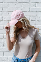 Savannah Summer Cities Hat in Blush Side View
