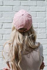 Savannah Summer Cities Hat in Blush Back View