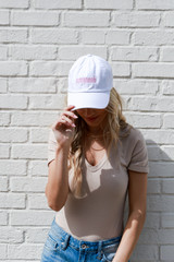 Savannah Summer Cities Hat in White Front View