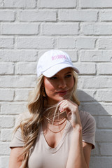 Model wearing the Atlanta Summer Cities Hat in White