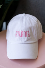 White - Flat Lay of the Atlanta Summer Cities Hat