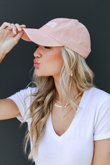 Atlanta Summer Cities Hat in Blush Side View