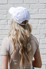 Atlanta Summer Cities Hat in White Back View