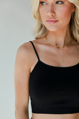 Black - Cropped Cami from Dress Up