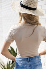 Everyday Bodysuit in Taupe Back View