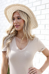 Everyday Bodysuit in Taupe Front View