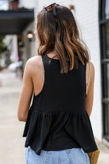 Summer Breeze Tank in Black Back View