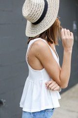 Summer Breeze Tank in White Side View