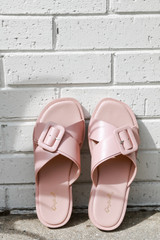 Buckled Slide Sandals from Dress Up in Blush