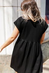 Summer Dress in Black Back View
